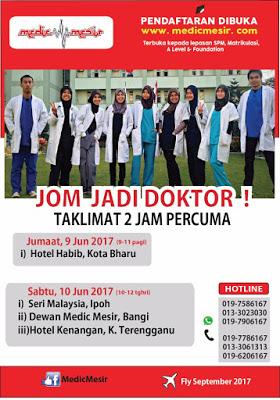 Jadual Taklimat MedicMesir Minggu ini