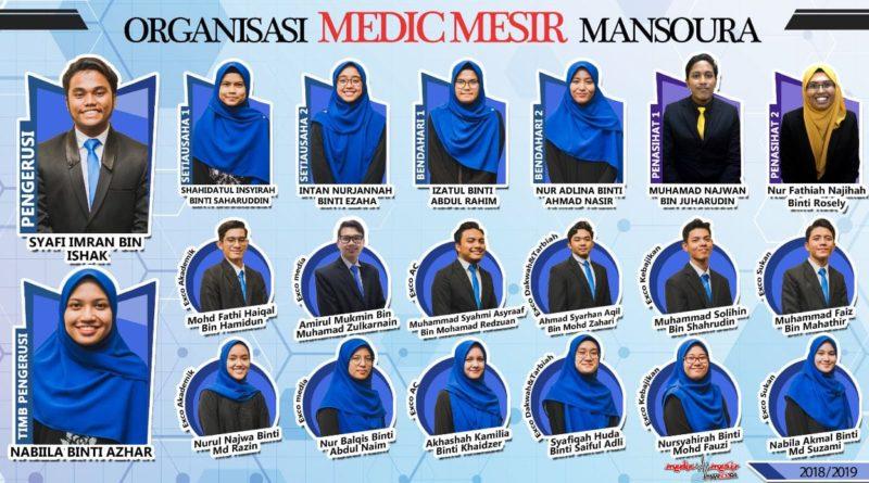 ORGANISASI MEDICMESIR MANSOURA SESI 2018/2019