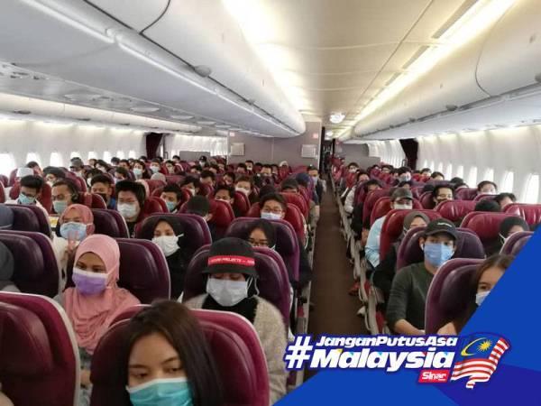Suasana sebak iringi kepulangan pelajar Malaysia terkandas